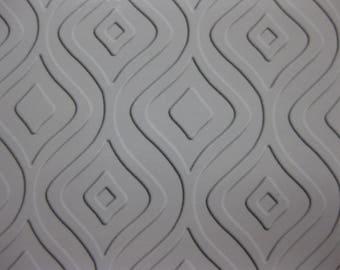 Modern Print Embossed Blank Note Cards, Embossed Blank Cards, Embossed Blank Greeting Cards Set of 12 (Ogee)