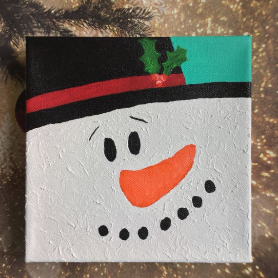 Snowman painting snowman decoration christmas painting for How to paint snowmen