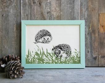 Hedgehog Wall Decor, Woodland Animals, Cute Animals Printable, Hedgehog Lovers Gift, Nature Art, Kids Room Decor, Christmas Gift