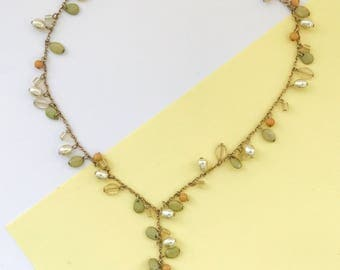 CAROLINA HERRERA Vintage Lariat Necklace