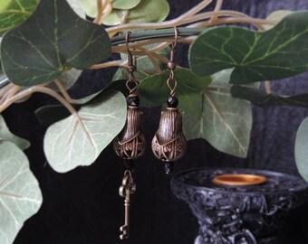 """Earrings """"Secret Garden of Shadows"""""""