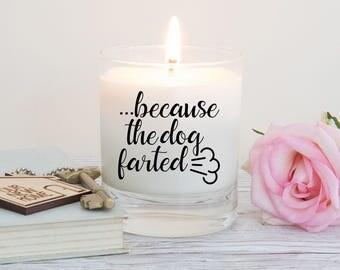 Pet candle, dog lover gift, gift for dog owner, animal lover, dog farts, funny gift, odour eliminator candle, dog farts, dog deodorant