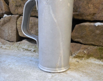 Vintage Antique Aluminum Liquid Measure Bar Pub Equipment Metal Pitcher