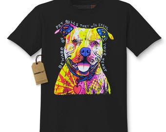 Beware Of Pit Bulls, They Will Steal Your Heart Kids T-shirt