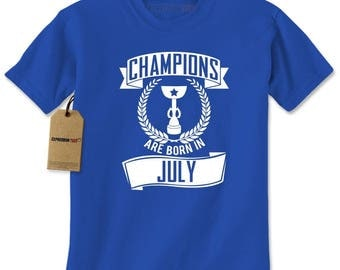 Champions Are Born In July Mens T-shirt