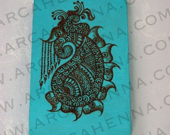 Painting pattern Mumbay henna hand decorated