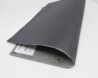 "Leather Scrap, Genuine Leather, Leather Pieces, Solid Grey, Size 8.25"" by 11.5""  Leather Scrap for DIY Projects."