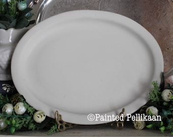 Vintage Creamy Antique White Platter, Restaurant China, Restaurant Ware, White Ironstone, Matte White Platter, Hotel China