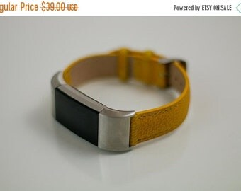 ON SALE Fitbit Charge 2 Leather Band w/clips