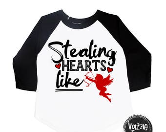 Stealing Hearts like Cupid - Cupid Shirts - Valentine Shirts - Funny Valentine Shirts - Boys' Shirts - Cute Valentine Shirts