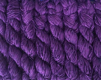 Berroco BONSAI Bamboo Yarn 9.99+.99ea to Ship Soft Matte Shiny Ribbon Yarn - Purple Umeboshi 4147 - Soft, Weighty, Drapey, Elegant, So Chic!