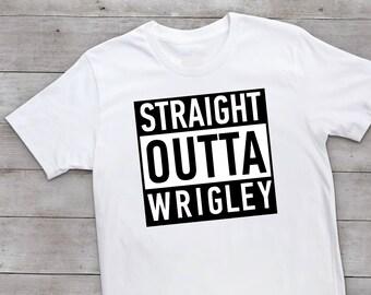 Straight Outta Wrigley. Chicago Cubs Onesie. Shirt