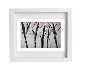 Cherry Blossom Trees Fine Print Nature Art Cherry Blossom Trees Art Giclee Print Modern Print Abstract Art Unique Gift