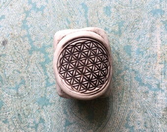 Flower of Life Dread Bead sacred geometry