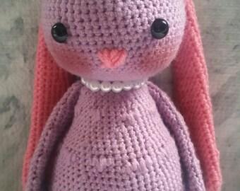Crochet Amigurumi Stuffed Bunny - Peanut