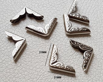 No.18 - Angle corner Protector for book 21x21x3mm color silver