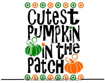 Cutest Pumpkin svg / dxf / eps / png files. Digital download. Compatible with Cricut and Silhouette machines.