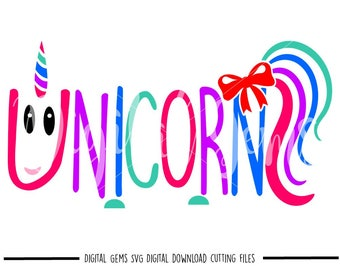 Unicorn svg / dxf / eps / png files. Digital download. Compatible with Cricut and Silhouette machines. Small commercial use ok.