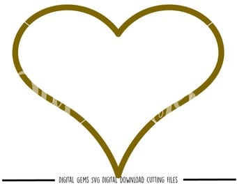 Heart svg / dxf / eps / png files. Digital download. Compatible with Cricut and Silhouette machines. Small commercial use ok.