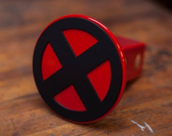 X-Men Trailer Hitch Cover- Red and Black