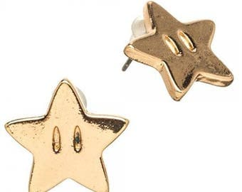 Super Mario Brothers Star Earrings