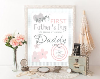 First Fathers Day gift Printable from baby girl