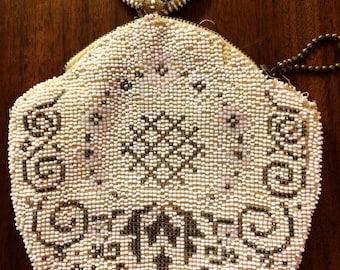 Antique beaded purse made in czechoslovakia