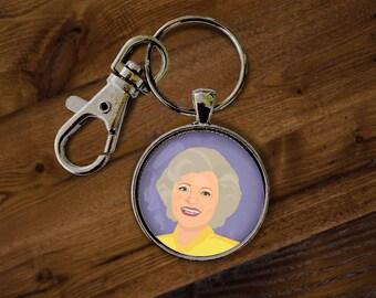 Golden Girls Keychain - Keyring, Key Holder, Key chain, Key ring, Thank you for Being a Friend, Best Friends, Dorothy, Blanche, Rose, Sophia