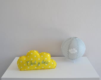 Decorative cotton yellow and blue cloud
