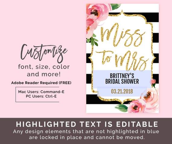 Mini Wine Bottle Labels PDF Kate Bridal Shower Wine Labels – Wine Label Size Template
