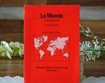 Vintage political map - The world - by Kümmerley and Frey - Librairie Liaisons-Verdun Ltée Montréal