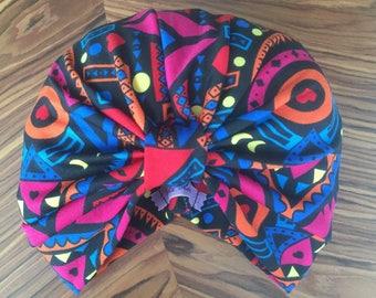 Aztec 90's Print turban