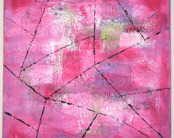 modern abstract painting pink, pink painting, abstract modern painting, abstract painting
