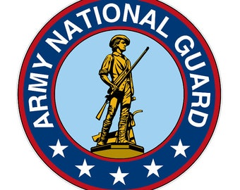 National Guard (M60) Seal US Army Decal Sticker Car/Truck Laptop/Netbook Window
