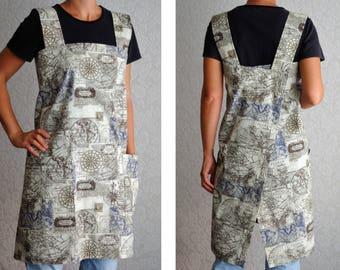 Housewarming gift New home gift First home gift Full apron Womens Aprons teacher apron Natural Cotton apron Kitchen apron Pinafore apron