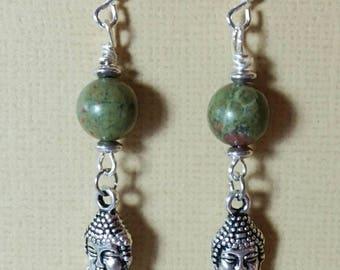Peaceful Unakite Earrings