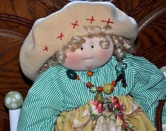 """Little Souls Doll, Little Souls Swanky, Little Souls Oleander 24"""", Gretchen Wilson, Cloth Dolls, One-Of-A-Kind, Dolly Mama, Ooak"""