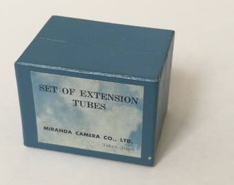Vintage Miranda SLR Camera Extension Tubes Kit