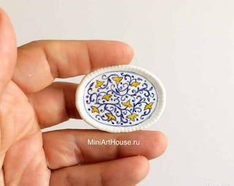 Miniature ceramic plate scale 1:12