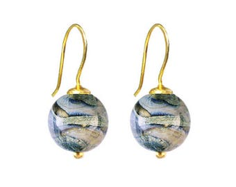 Murano Glass Earrings 'Gaia' by Mystery of Venice, Italy, Murano Glass Jewelry, Murano Glass Beads, Gaia Earrings, Gaia Jewelry