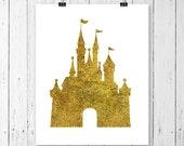 INSTANT DOWNLOAD! SVG, Glitter Castle Svg, Gold Castle,  Mouse Svg, Monogram Svg, Princess Svg, Magic Kingdom Svg, Cricut Svg, Svg Files