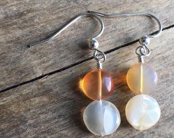 Mecican Fire Opal Earrings