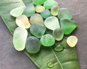 Green & Yellow Sea Glass Mix
