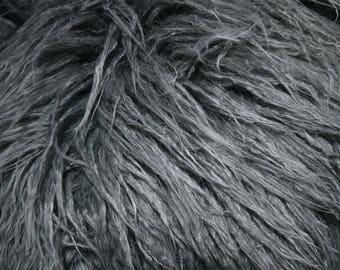 Fabric Fur artificial alpaca gray | Per Metre
