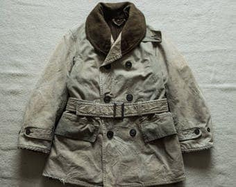 1940's WW2 US Army Jeep Coat Mackinaw Jacket Wool lined Olive Drab Engineered Garments Nigel Cabourn USN Deck Buzz Rickson RRL filson lvc