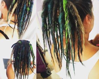 CHOOSE YOUR OWN colours - dreadfalls /Tie in dreads dreadlocks festival synthetic deads