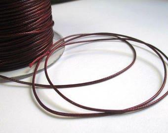 5 m thread cord burgundy polyester waxed 1 mm