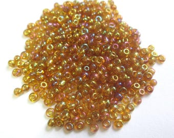 10gr Bril Brown 2mm (about 800 beads) Rainbow seed beads