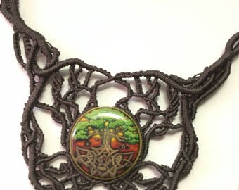Cabochon Necklace-Tree of Life
