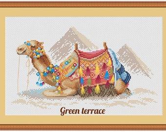 Camel cross stitch pattern, cross stitch pattern, modern cross stitch, PDF, instant download